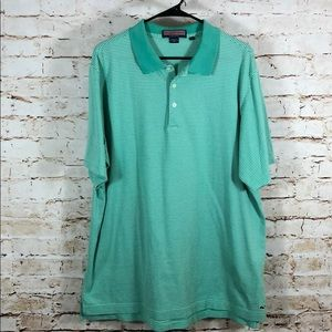 Vineyard Vines Green Stripe Polo Shirt